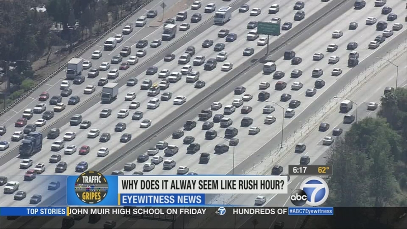 Traffic gripes: Does rush hour in Los Angeles ever end?