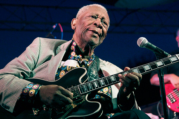 "<div class=""meta image-caption""><div class=""origin-logo origin-image none""><span>none</span></div><span class=""caption-text"">B.B. King, whose heartfelt vocals earned him the nickname King of the Blues, died Thursday, May 14, 2015 at his home in Las Vegas. He was 89. (AP Photo/Rogelio V. Solis)</span></div>"