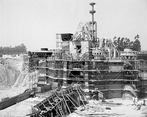 "<div class=""meta image-caption""><div class=""origin-logo origin-image none""><span>none</span></div><span class=""caption-text"">The structure of Sleeping Beauty Castle takes shape. The 77-foot tall castle is the centerpiece of Disneyland park and has inspired unique Magic Kingdom parks around the world. (Disneyland Resort/ABC News)</span></div>"