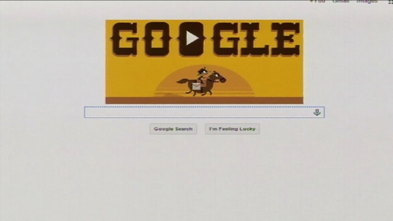 This Google doodle of the Wild West was created in honor of the 155th anniversary of the Pony Express.