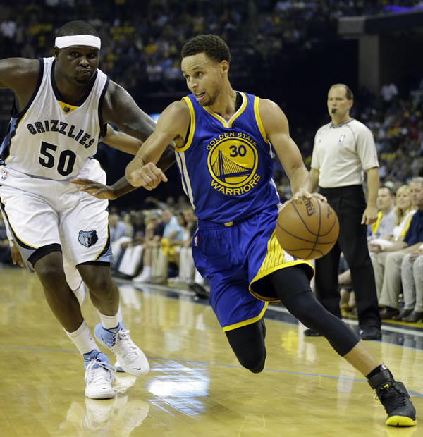 """<div class=""""meta image-caption""""><div class=""""origin-logo origin-image none""""><span>none</span></div><span class=""""caption-text"""">Warriors Stephen Curry dribbles past Grizzlies forward Zach Randolph in Game 6 of the Western Conference Semifinals on Friday, May 15 ,2015 in Memphis, Tenn. (AP Photo/Mark Humphrey)</span></div>"""