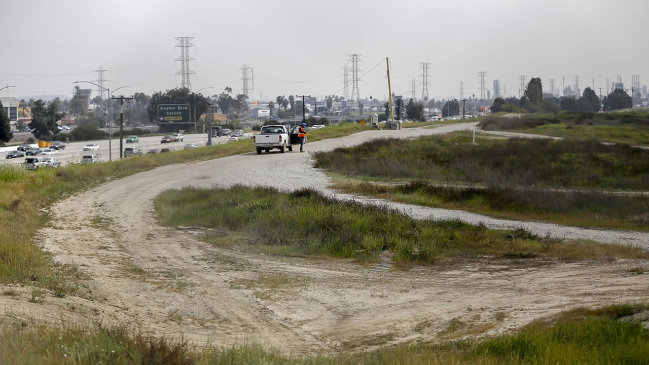 The site for a proposed NFL football stadium by the owners of the San Diego Chargers and Oakland Raiders