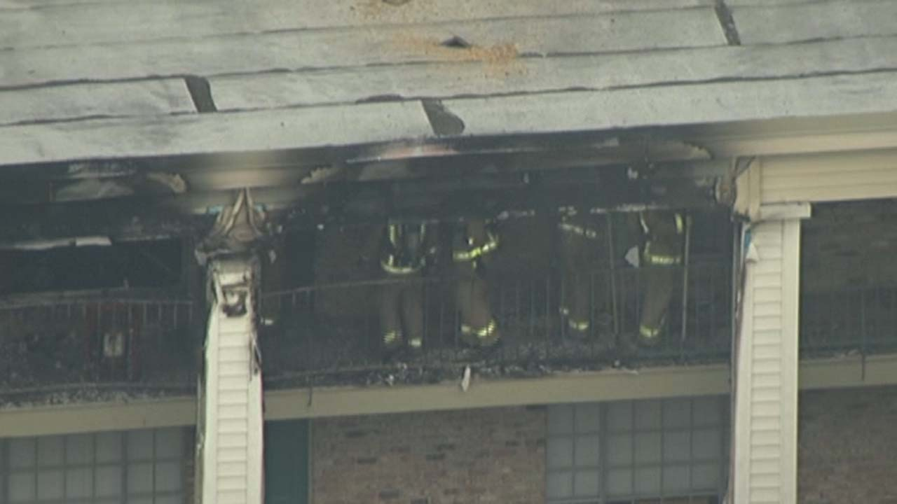 A fire broke out at a two-story apartment building in southwest Houston, damaging several units