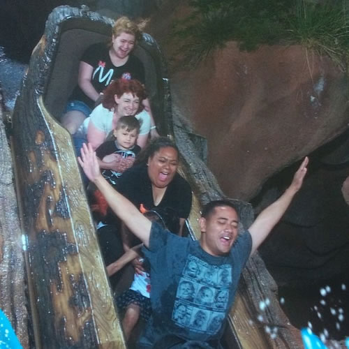"""<div class=""""meta image-caption""""><div class=""""origin-logo origin-image none""""><span>none</span></div><span class=""""caption-text"""">Great Splash Mountain pic! ABC7 News viewers and staff are celebrating Disneyland's 60 years of magic by sharing photos of themselves at the park. (Photo submitted to KGO-TV by sheenajustine/Instagram)</span></div>"""