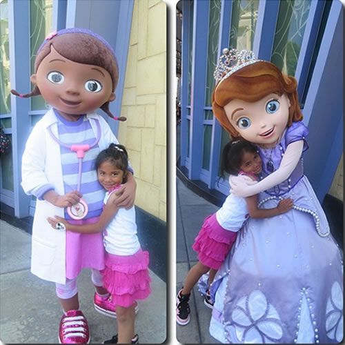 """<div class=""""meta image-caption""""><div class=""""origin-logo origin-image none""""><span>none</span></div><span class=""""caption-text"""">Emma got to meet Doc McStuffins and Sofia the First! ABC7 News viewers and staff are celebrating Disneyland's 60 years of magic by sharing photos of themselves at the park. (Photo submitted to KGO-TV by sheenajustine/Instagram)</span></div>"""