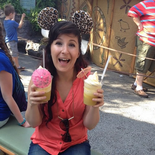 """<div class=""""meta image-caption""""><div class=""""origin-logo origin-image none""""><span>none</span></div><span class=""""caption-text"""">This is the only way to Dole Whip at Disneyland. ABC7 News viewers and staff are celebrating Disneyland's 60 years of magic by sharing photos of themselves at the park. (Photo submitted to KGO-TV by shleaz/Instagram)</span></div>"""