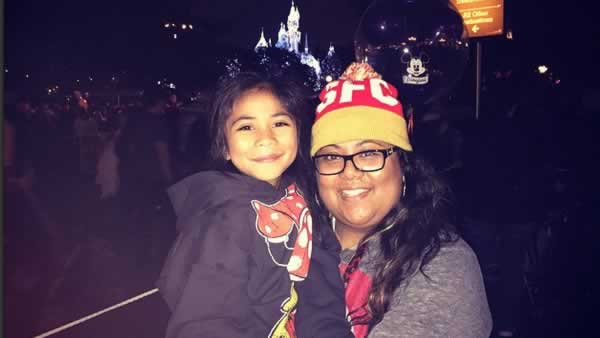 """<div class=""""meta image-caption""""><div class=""""origin-logo origin-image none""""><span>none</span></div><span class=""""caption-text"""">ABC7 News viewers and staff are celebrating Disneyland's 60 years of magic by sharing photos of themselves at the park. (Photo submitted to KGO-TV by sheenajustine/Instagram)</span></div>"""