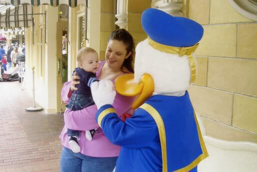 """<div class=""""meta image-caption""""><div class=""""origin-logo origin-image none""""><span>none</span></div><span class=""""caption-text"""">Donald Duck is showing some Disney love! ABC7 News viewers and staff are celebrating Disneyland's 60 years of magic by sharing photos of themselves at the park. (Photo submitted to KGO-TV by Amy E/Twitter)</span></div>"""
