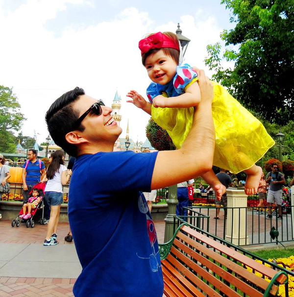 """<div class=""""meta image-caption""""><div class=""""origin-logo origin-image none""""><span>none</span></div><span class=""""caption-text"""">Magical father-daughter moments at Disneyland. ABC7 News viewers and staff are celebrating Disneyland's 60 years of magic by sharing photos of themselves at the park. (Photo submitted to KGO-TV by Freddy Flores/Twitter)</span></div>"""