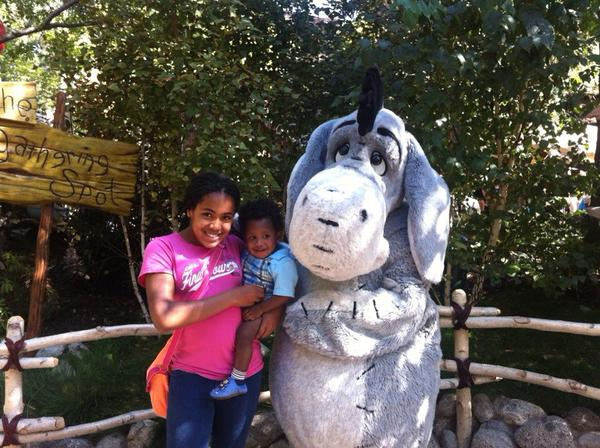 """<div class=""""meta image-caption""""><div class=""""origin-logo origin-image none""""><span>none</span></div><span class=""""caption-text"""">Everybody loves Eeyore! ABC7 News viewers and staff are celebrating Disneyland's 60 years of magic by sharing photos of themselves at the park. (Photo submitted to KGO-TV by Madison R/Twitter)</span></div>"""