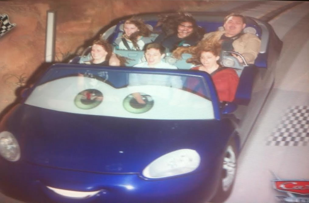 """<div class=""""meta image-caption""""><div class=""""origin-logo origin-image none""""><span>none</span></div><span class=""""caption-text"""">Terror on the Cars ride -- Jamie and Andrew's honeymoon! ABC7 News viewers and staff are celebrating Disneyland's 60 years of magic by sharing photos of themselves at the park. (Photo submitted to KGO-TV by Jamie O.)</span></div>"""
