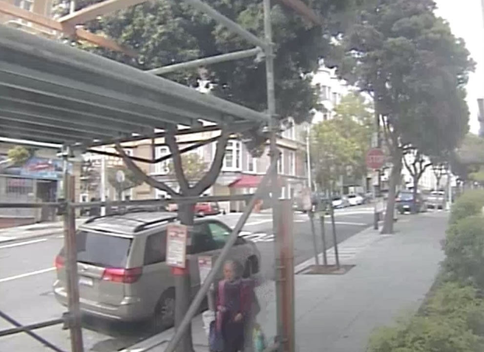 Video from security cameras shows 77-year-old Lin Leong before she was beaten in San Francisco on May 10, 2015.