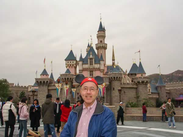"""<div class=""""meta image-caption""""><div class=""""origin-logo origin-image none""""><span>none</span></div><span class=""""caption-text"""">ABC7 News reporter Davie Louie at Disneyland in Hong Kong! ABC7 News viewers and staff are celebrating Disneyland's 60 years of magic by sharing photos of themselves at the park. (Photo submitted to KGO-TV by Julie G/Twitter)</span></div>"""