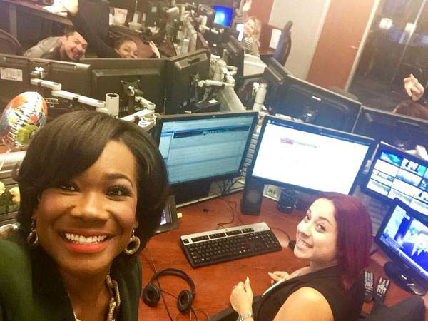 """<div class=""""meta image-caption""""><div class=""""origin-logo origin-image none""""><span>none</span></div><span class=""""caption-text"""">Samica Knight taking a newsroom selfie with some of the morning show producers (KTRK Photo)</span></div>"""