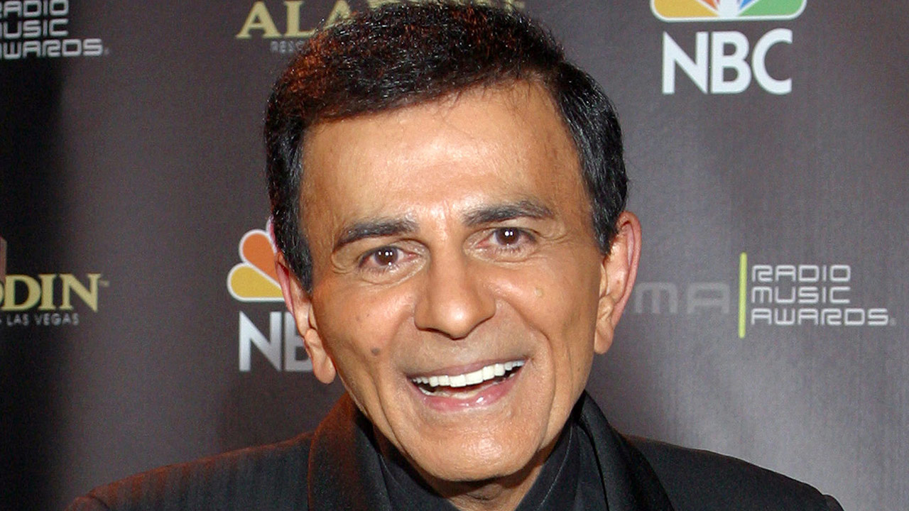 In this Oct. 27, 2003, file photo, Casey Kasem poses for photographers after receiving the Radio Icon award during The 2003 Radio Music Awards at the Aladdin Resort and Casino in Las Vegas.