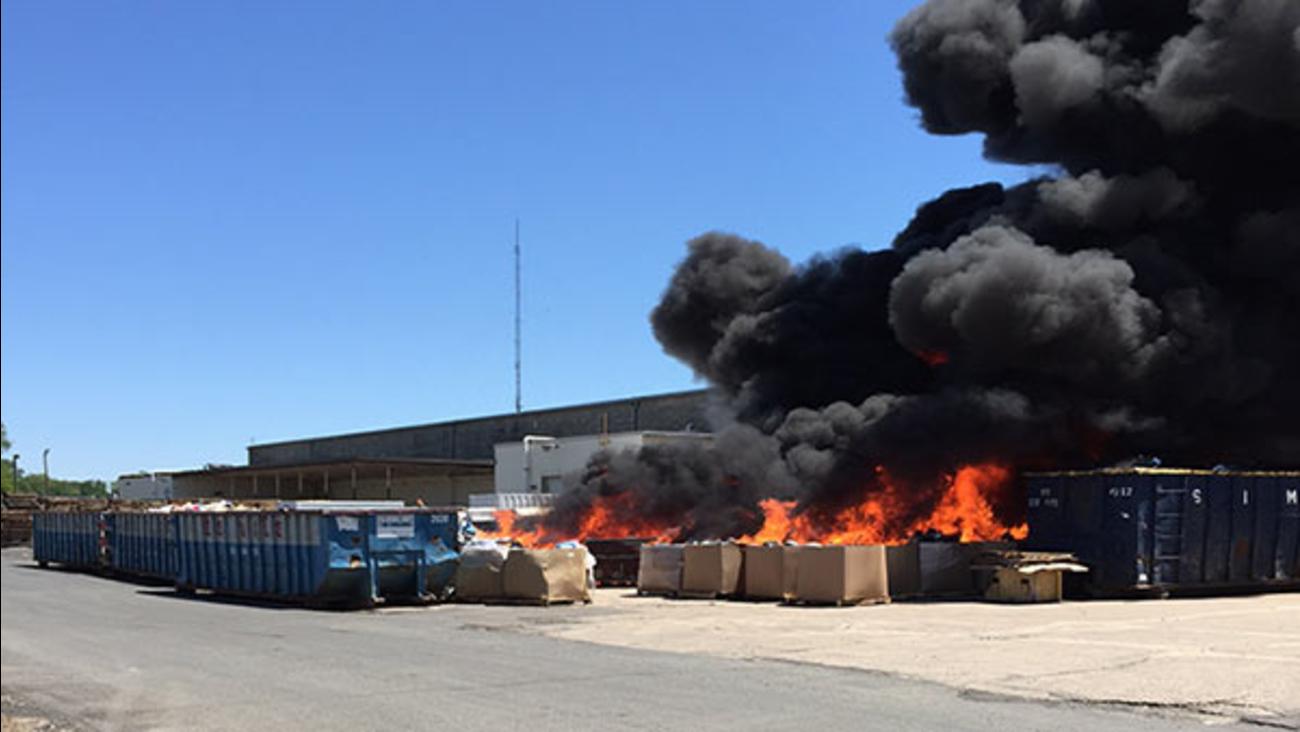 Several dumpsters catch fire in Northeast Philadelphia