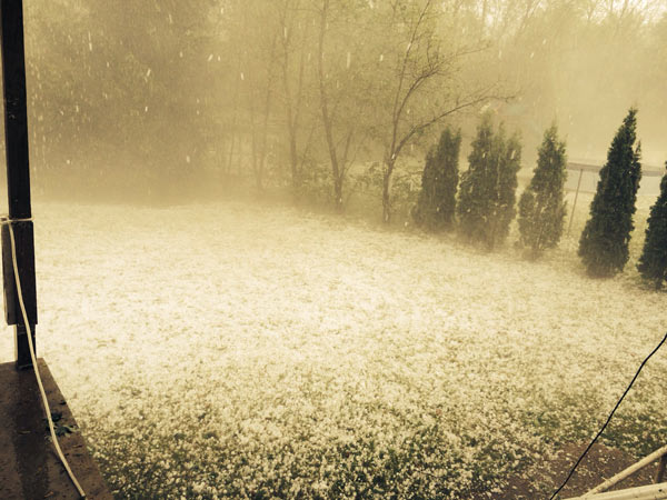 """<div class=""""meta image-caption""""><div class=""""origin-logo origin-image """"><span></span></div><span class=""""caption-text"""">An Action News viewer sent in this photo of the hail storm in Bern Township, Berks County on May 22, 2014.</span></div>"""