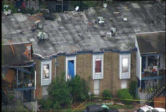 """<div class=""""meta image-caption""""><div class=""""origin-logo origin-image none""""><span>none</span></div><span class=""""caption-text"""">A view of the damage over apartment buildings in southwest Houston after severe storms (KTRK Photo/ KTRK)</span></div>"""