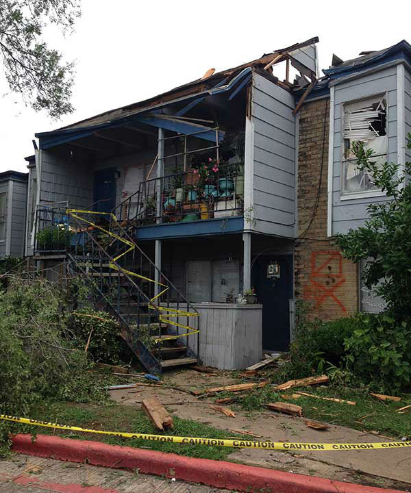 """<div class=""""meta image-caption""""><div class=""""origin-logo origin-image none""""><span>none</span></div><span class=""""caption-text"""">A view of the damage in southwest Houston after severe weather hit the area. (KTRK Photo/Tracy Clemons)</span></div>"""