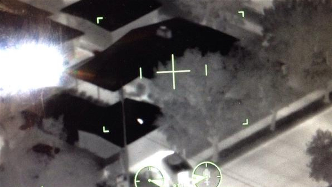 A home involved in a barricade situation is seen in this photo posted on the Los Angeles County Sheriff's Department's Special Enforcement Bureau's Twitter account.