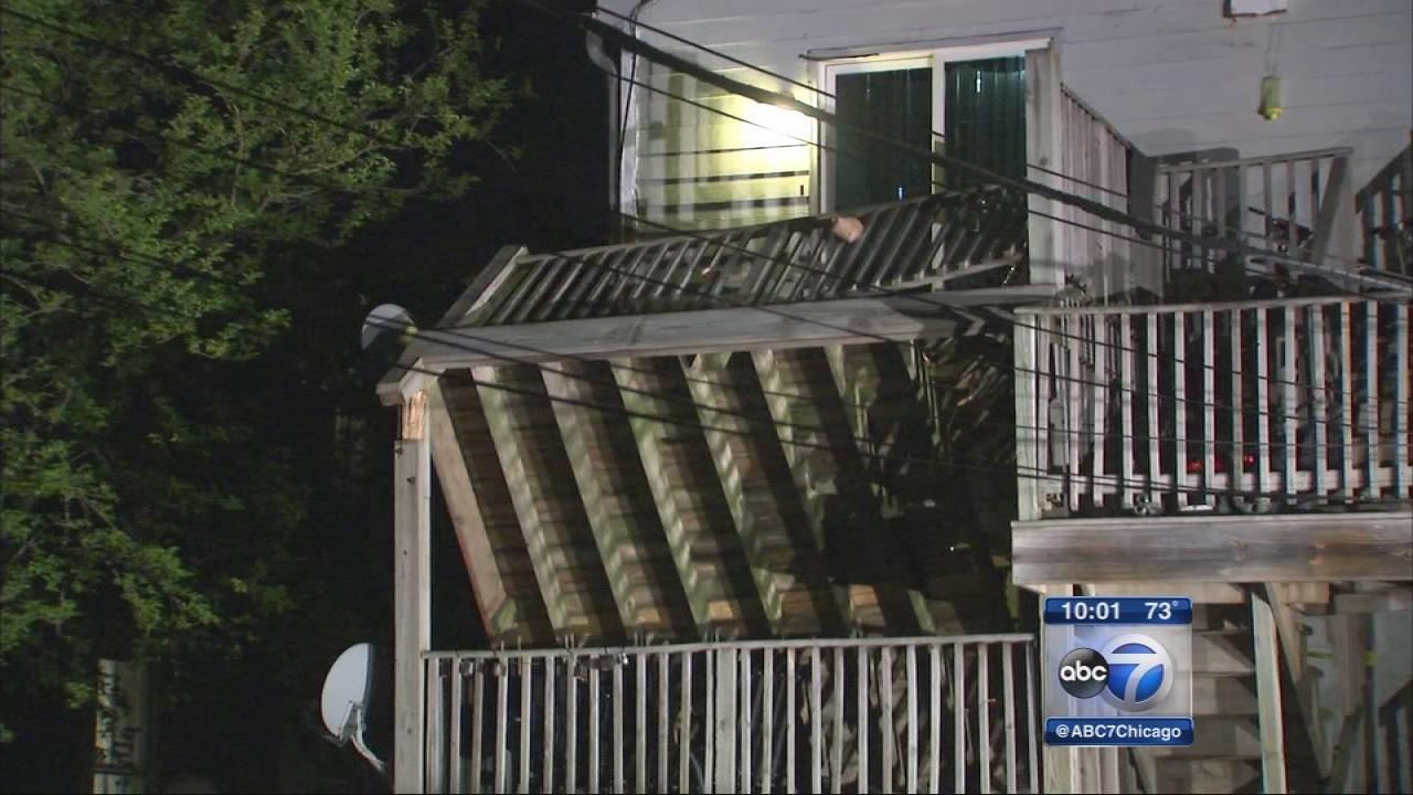 Several injured in Evanston porch collapse
