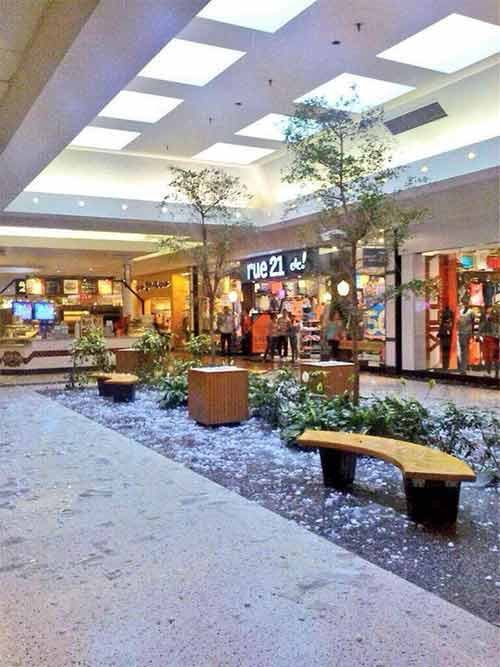 """<div class=""""meta image-caption""""><div class=""""origin-logo origin-image """"><span></span></div><span class=""""caption-text"""">The damaging hail that fell across the region, crashed through the Berkshire Mall sky light. (Photo courtesy of Jarred Lunckenbill)</span></div>"""