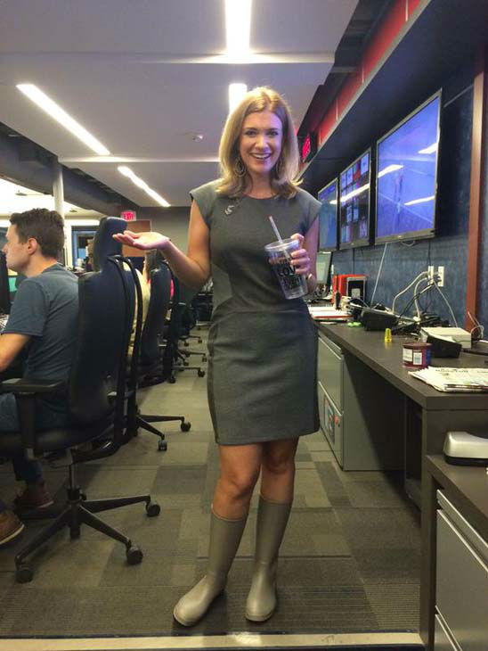 """<div class=""""meta image-caption""""><div class=""""origin-logo origin-image none""""><span>none</span></div><span class=""""caption-text"""">There was no rain in the newsroom, but Rebecca Spera was ready (KTRK Photo)</span></div>"""