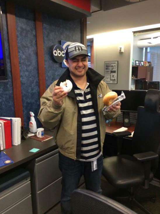 """<div class=""""meta image-caption""""><div class=""""origin-logo origin-image none""""><span>none</span></div><span class=""""caption-text"""">Assistant News Director Rehan Aslam grabbing food in the newsroom during continuous coverage (KTRK Photo)</span></div>"""