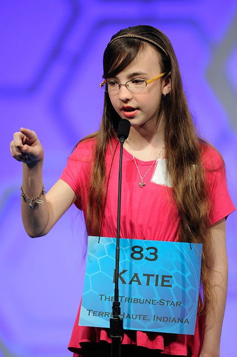 "<div class=""meta image-caption""><div class=""origin-logo origin-image none""><span>none</span></div><span class=""caption-text"">Katie Collins, 12, of Terre Haute, Ind., gestures while spelling her word during the 2015 Scripps National Spelling Bee in Oxon Hill, Md. (Photo/AP)</span></div>"