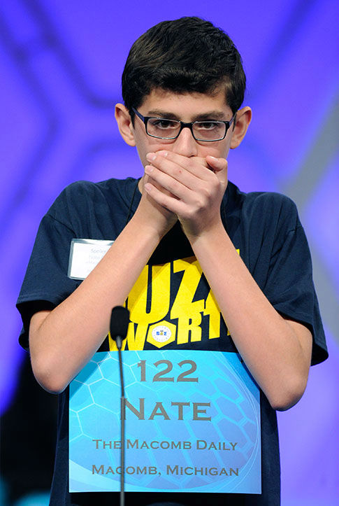 "<div class=""meta image-caption""><div class=""origin-logo origin-image none""><span>none</span></div><span class=""caption-text"">Nathaniel Britton, 14, of Macomb, Mich., spells the word ""incorruptible"" during the 2105 Scripps National Spelling Bee in Oxon Hill, Md. (Photo/AP)</span></div>"