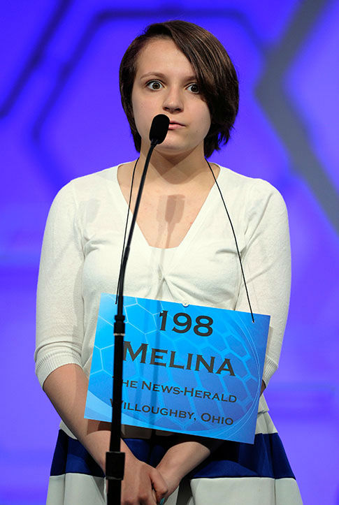 "<div class=""meta image-caption""><div class=""origin-logo origin-image none""><span>none</span></div><span class=""caption-text"">Melina Gabele, 13, of Willoughby, Ohio, spells the word ""flamenco"" during the 2015 Scripps National Spelling Bee in Oxon Hill, Md. (Photo/AP)</span></div>"