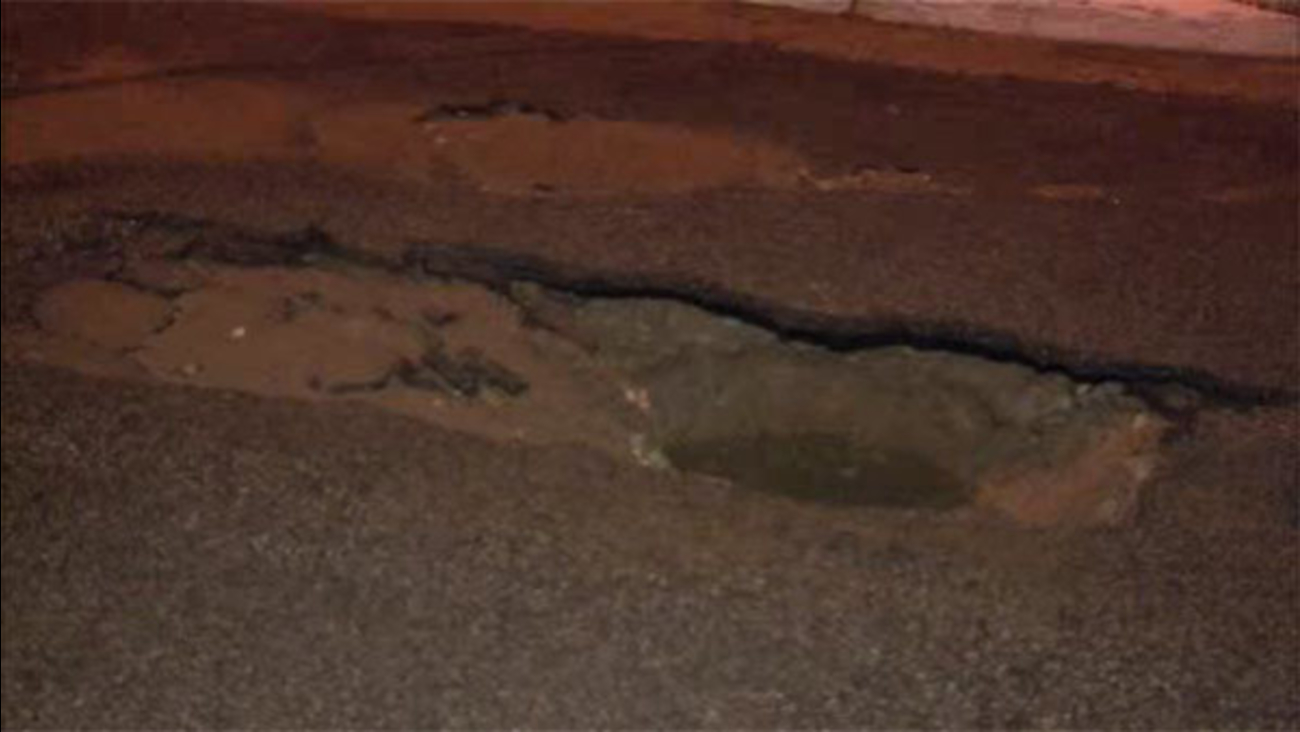 Sinkhole closes street in North Philadelphia