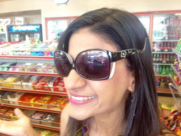 "<div class=""meta image-caption""><div class=""origin-logo origin-image none""><span>none</span></div><span class=""caption-text"">Pooja found upside down sunglasses at the gas station (KTRK Photo)</span></div>"