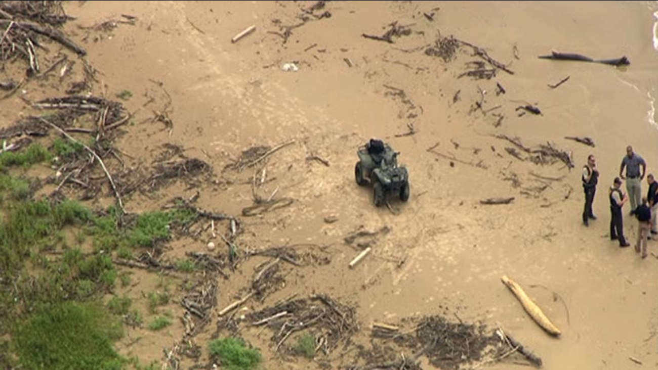Area where a man's body was found near Sargent, Texas