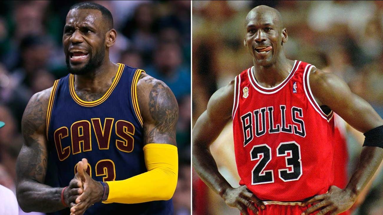 da11b76b4467f NBA LEGENDS  LeBron James vs. Michael Jordan by the numbers ...