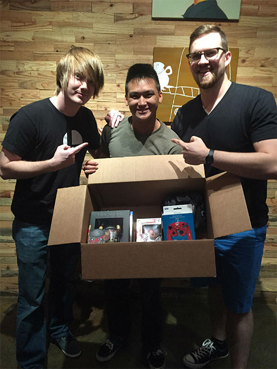 "<div class=""meta image-caption""><div class=""origin-logo origin-image none""><span>none</span></div><span class=""caption-text"">A local entertainment company stopped by to give him some free merchandise. (Courtesy of Jason Dang)</span></div>"