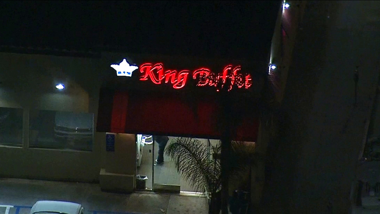 Two pedestrians were struck in a hit-and-run crash near King Buffet in Hollywood on Friday, May 29, 2015.