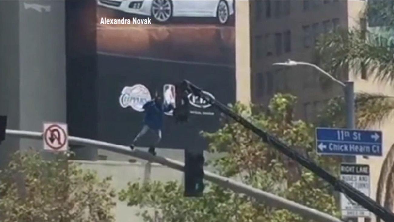 Kendrick Lamar shot part of his video for 'Alright' from his third studio album, 'To Pimp a Butterfly,' at Figueroa and 11th streets in downtown Los Angeles Thursday, May 28, 2015.