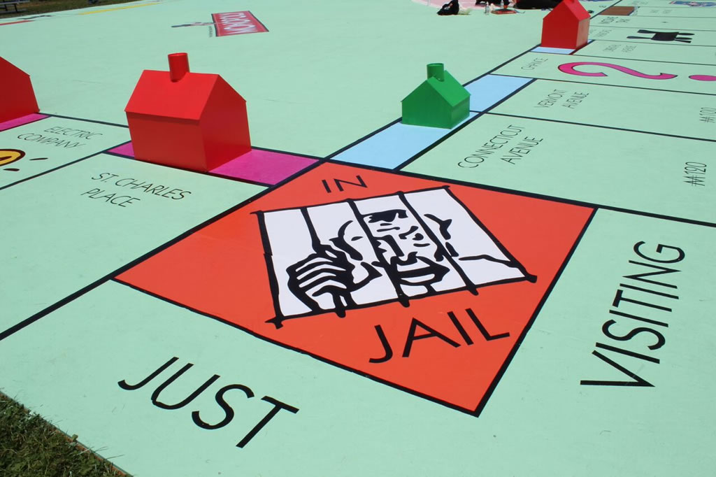 """<div class=""""meta image-caption""""><div class=""""origin-logo origin-image none""""><span>none</span></div><span class=""""caption-text"""">Supporters of the Salvation Army Ray and Joan Kroc Center in Suisun City, Calif. attempted to build the world's largest Monopoly game board on May 30, 2015. (KGO-TV)</span></div>"""