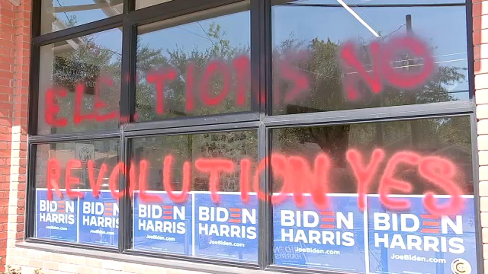 2020 Election: Harris County Democrats' headquarters vandalized - ABC13  Houston