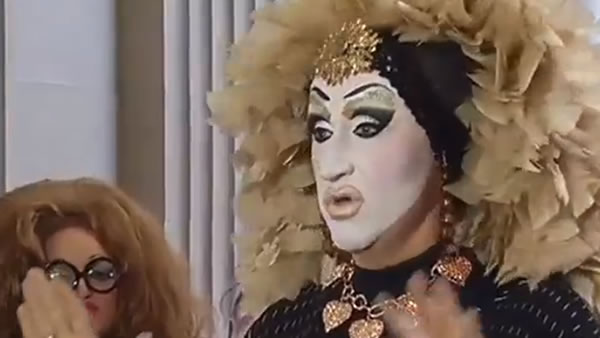 File photo - Drag queen Roma is seen speaking in this undated photo.