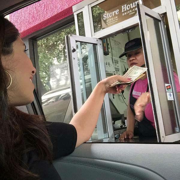 "<div class=""meta image-caption""><div class=""origin-logo origin-image none""><span>none</span></div><span class=""caption-text"">Patricia Lopez using her half off coupon at Taco Cabana (KTRK Photo)</span></div>"