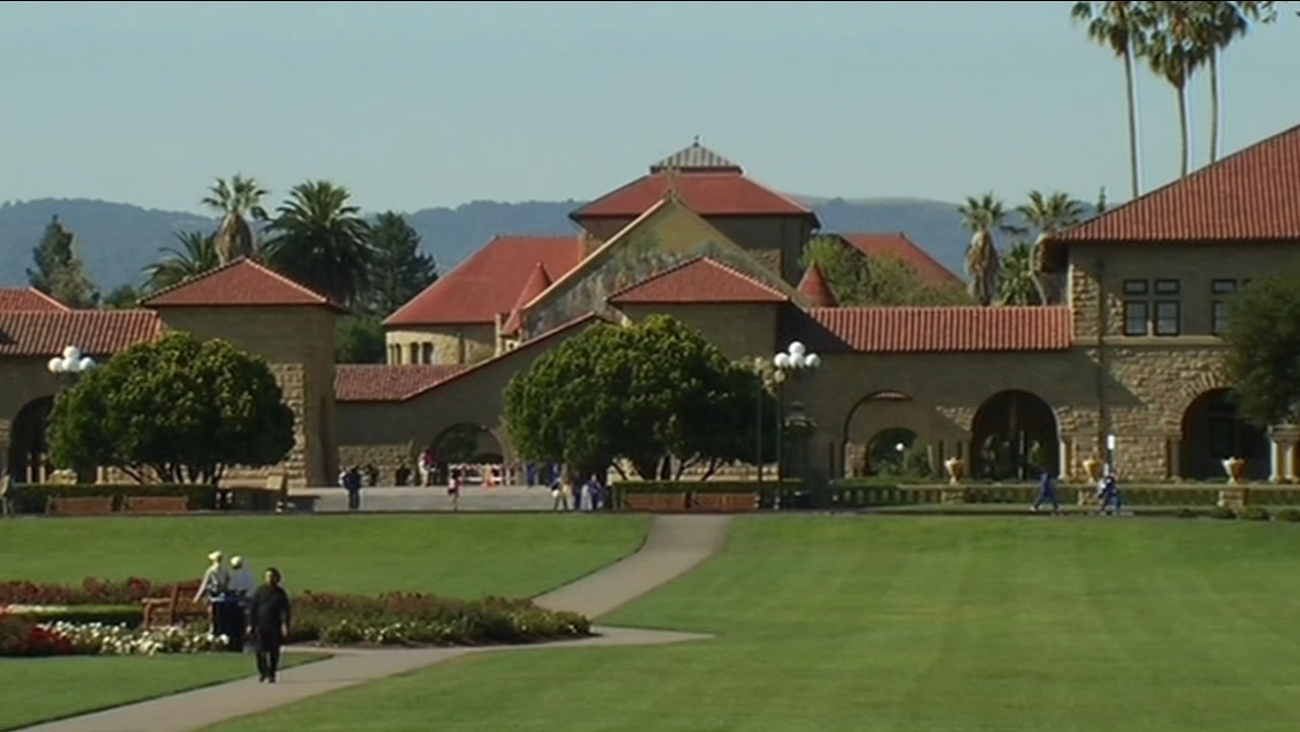 This undated image shows the campus of Stanford University in Stanford, Calif.