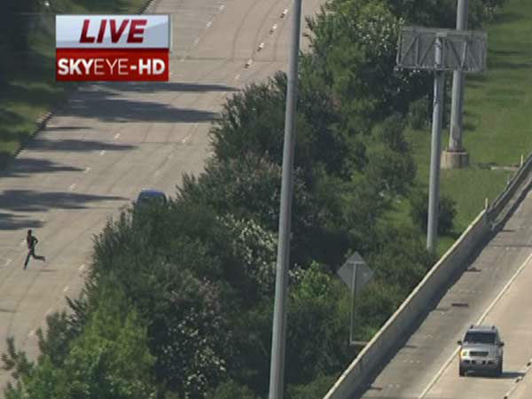 """<div class=""""meta image-caption""""><div class=""""origin-logo origin-image none""""><span>none</span></div><span class=""""caption-text"""">Police are looking for two car chase suspect who abandoned their car on the Eastex Freeway and darted across the highway, to flee officers. (KTRK/Photo)</span></div>"""