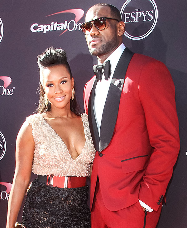 lebron james wifes height