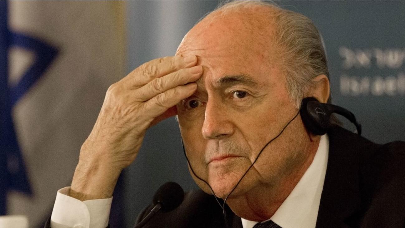 FIFA President Sepp Blatter attends a press conference in Jerusalem.