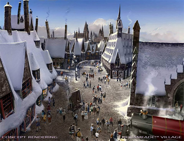 """<div class=""""meta image-caption""""><div class=""""origin-logo origin-image none""""><span>none</span></div><span class=""""caption-text"""">An artist rendering shows Hogsmeade village at 'The Wizarding World of Harry Potter,' slated to open in spring 2016 at Universal Studios Hollywood. (Universal Studios Hollywood)</span></div>"""