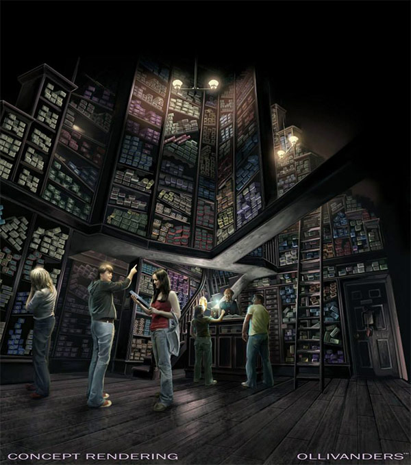 """<div class=""""meta image-caption""""><div class=""""origin-logo origin-image none""""><span>none</span></div><span class=""""caption-text"""">An artist rendering shows the Ollivanders store at 'The Wizarding World of Harry Potter,' slated to open in spring 2016 at Universal Studios Hollywood. (Universal Studios Hollywood)</span></div>"""