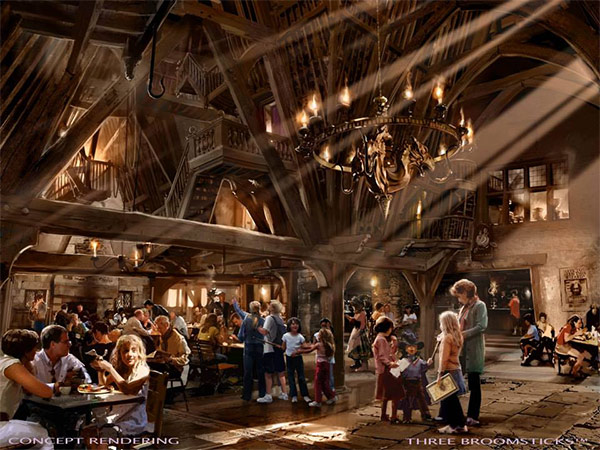 """<div class=""""meta image-caption""""><div class=""""origin-logo origin-image none""""><span>none</span></div><span class=""""caption-text"""">An artist rendering shows the Three Broomsticks restaurant at 'The Wizarding World of Harry Potter,' slated to open in spring 2016 at Universal Studios Hollywood. (Universal Studios Hollywood)</span></div>"""