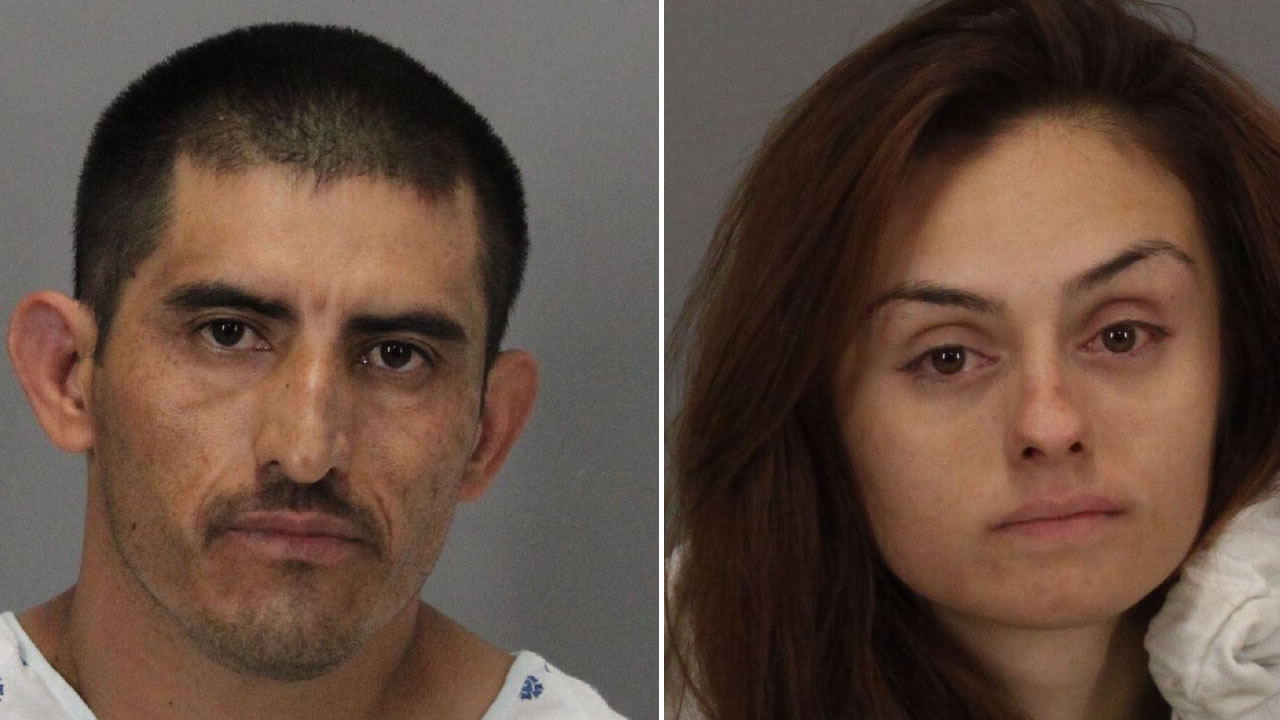Juan Antonio Gonzalez-Lara, 37, and Sara Maciel, 21, were arrested after allegedly driving a car at a police officer and striking an occupied patrol car in San Jose Sunday.